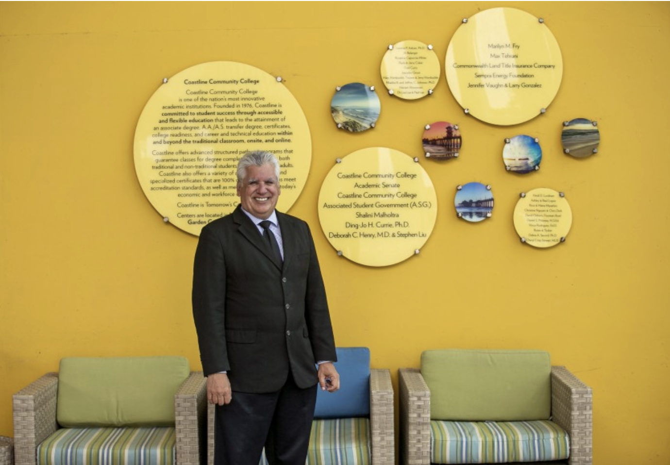 Dr. Vince Rodriguez has been named the next president of Coastline College by the Coast Community College District Board of Trustees. (Scott Smeltzer / Staff Photographer)