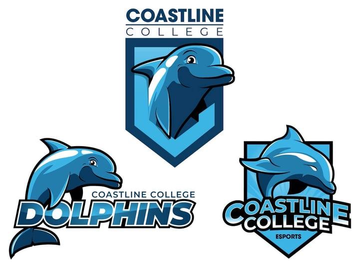 Trio of new Coastline College dolphin logos